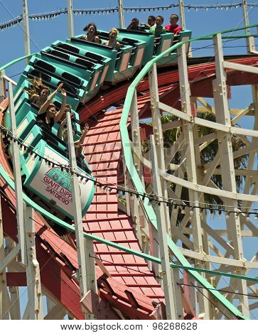 A Giant Dipper Ride, Belmont Park, San Diego