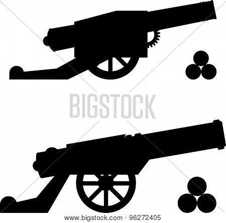 Silhouettes Of Guns With Kernels