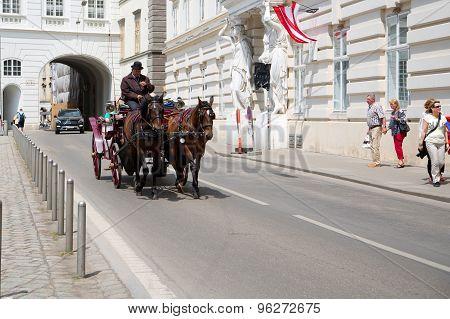 Cabman on the street of Vienna