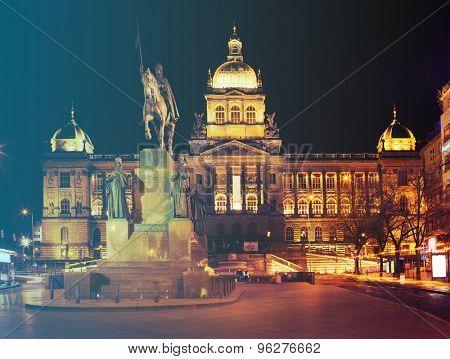 National Museum on Wenceslas Square in Prague. Czech Republic.