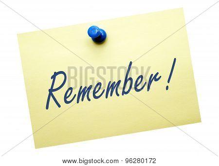 Remember !