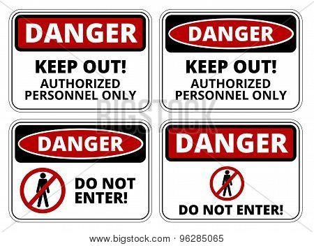Danger sign