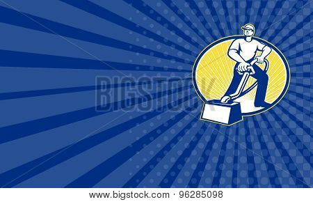 Business Card Carpet Cleaner Vacuum Cleaning Machine Retro
