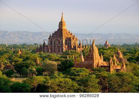 Scenic view of antient Sulamani temple at sunrise Bagan Myanmar (Burma) poster