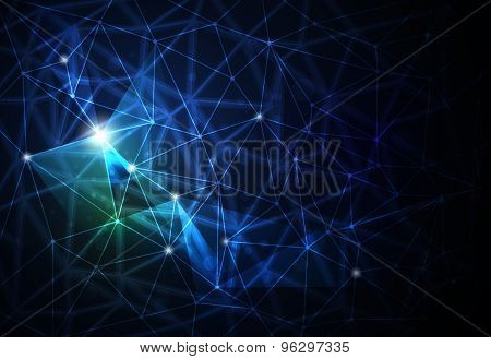 Abstract Futuristic - Molecules Technology Background