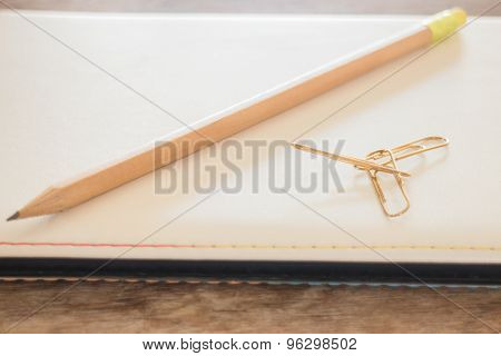 Simple Office Desk With Necessary Tool