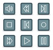 Vector web icons  grey square buttons series poster