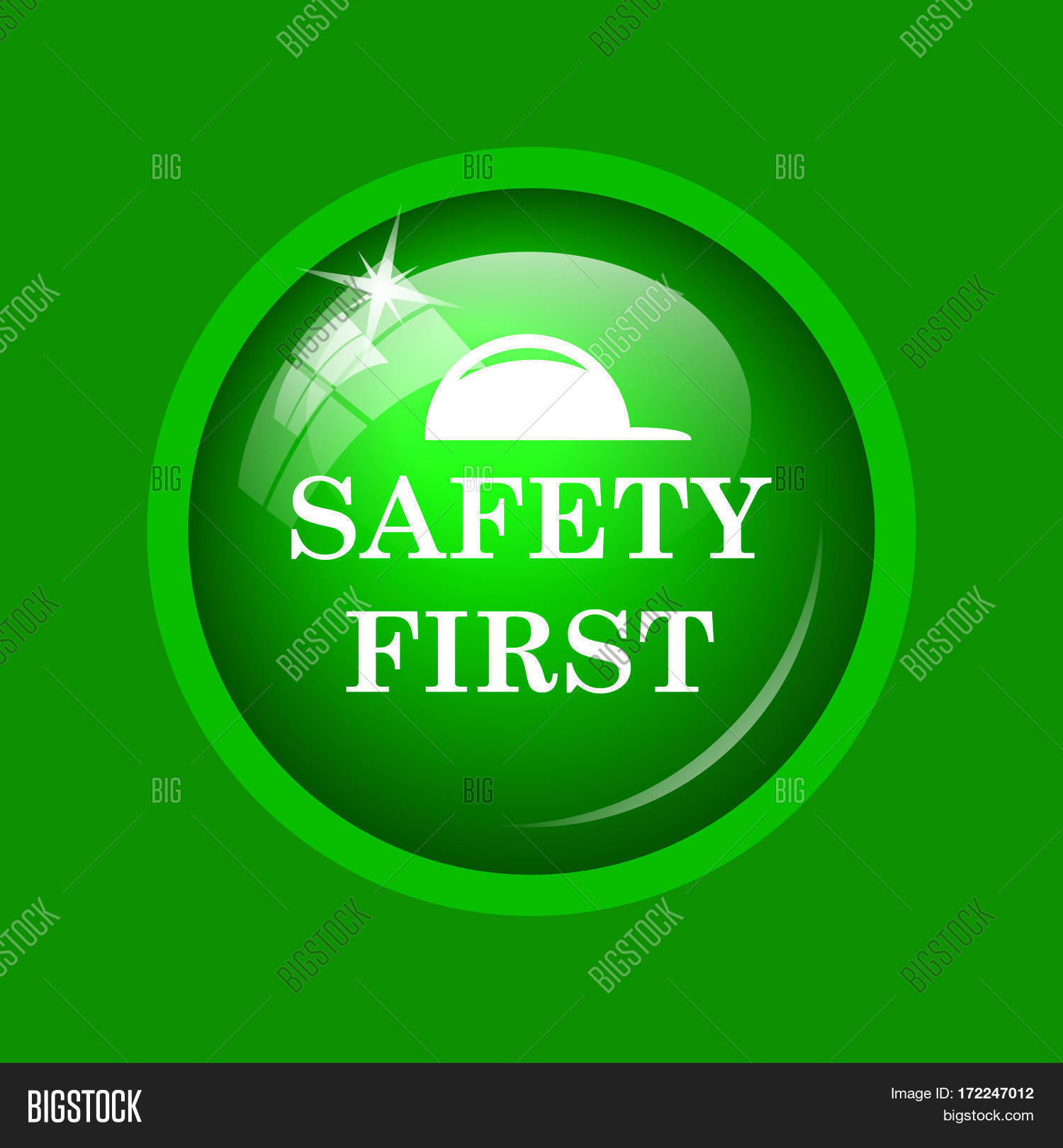 Safety First Icon Image Photo Free Trial Bigstock