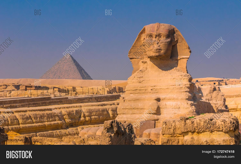 Sphinx Pyramids Giza Image & Photo (Free Trial)   Bigstock