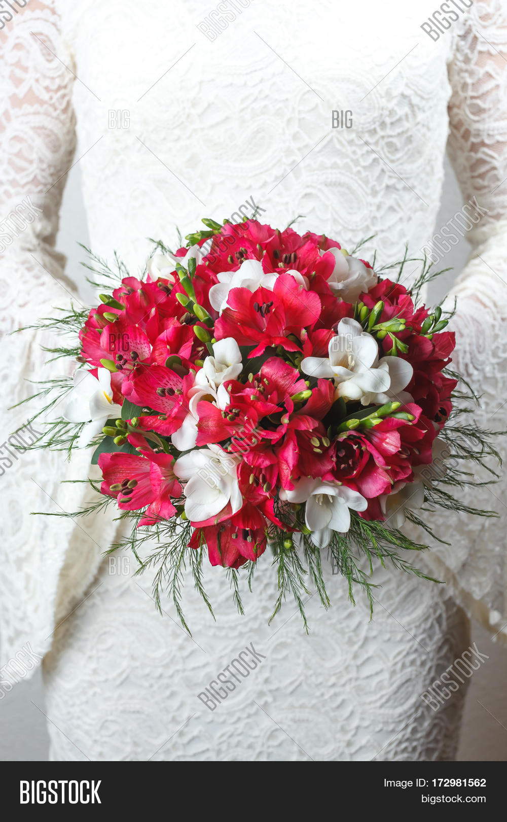 Red White Wedding Image Photo Free Trial Bigstock