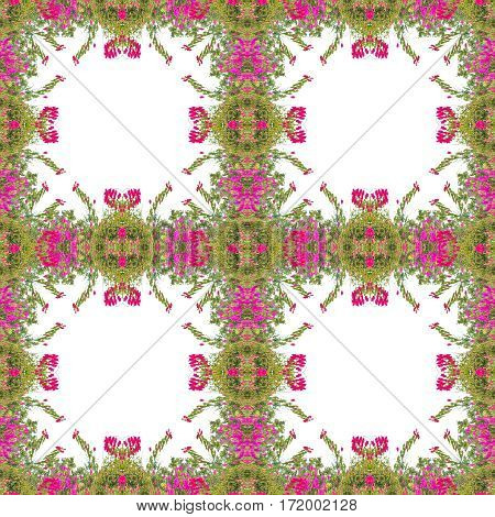Stlylized Floral Collage Mosaic Pattern