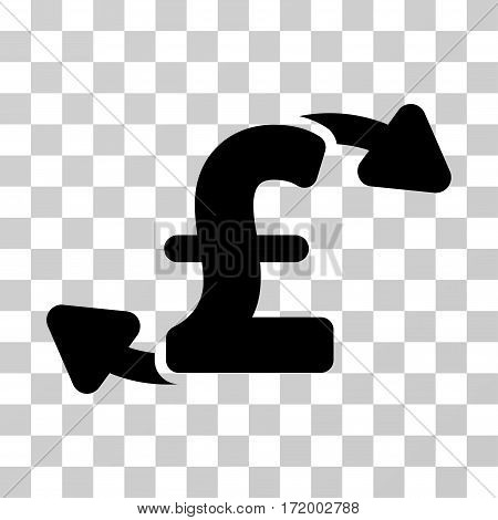 Pound Cash Outs vector pictograph. Illustration style is a flat iconic black symbol on a transparent background.