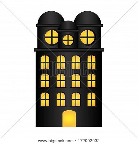 edifice residence with several floors vector illustration