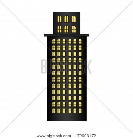 skyscraper residence with several floors vector illustration