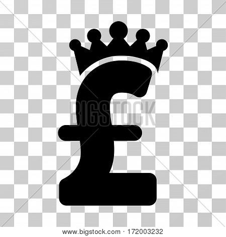 Pound Crown vector icon. Illustration style is a flat iconic black symbol on a transparent background.