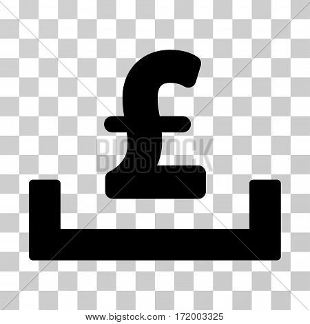 Pound Deposit Placement vector icon. Illustration style is a flat iconic black symbol on a transparent background.