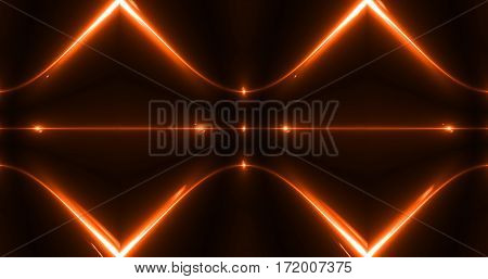 Luxury Modern Abstract orange Laser Beam Light Background