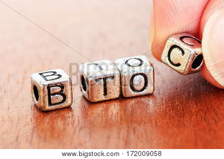 B2C (business-to-consumer), Business Finance Concept With Metal Letters