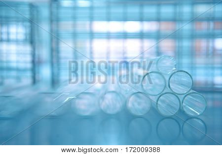 motion of glass test tube in research science laboratory