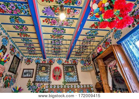 Colourful Room In The Log House