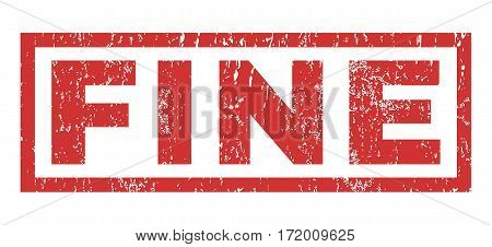 Fine text rubber seal stamp watermark. Tag inside rectangular shape with grunge design and scratched texture. Horizontal vector red ink sticker on a white background.