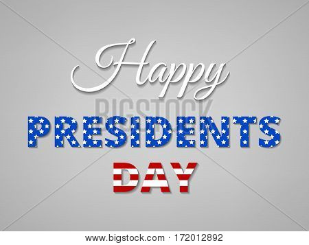Happy Presidents Day Greeting Card with USA Flag