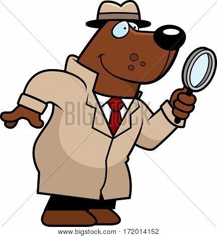 Cartoon Bear Detective