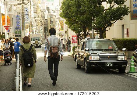 Japanese People Walking And Dating On Street At Small Alley Of Shinjuku