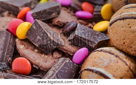 chocolate,candy and cookies