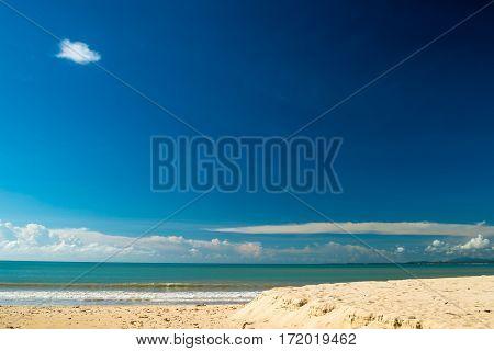 Beautiful Blue Sky On The Beach Thailand