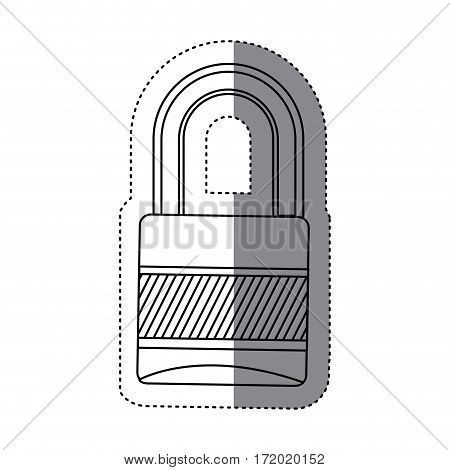 padlock icon image stock, vector illustration design