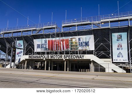 Indianapolis - Circa February 2017: Gate Two Entrance At Indianapolis Motor Speedway. Ims Prepares F