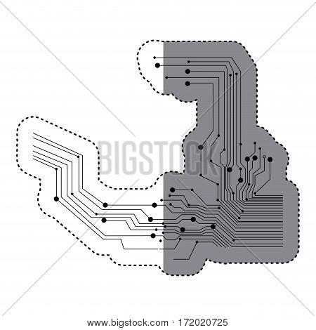 circuits icon image stock, vector illustration design