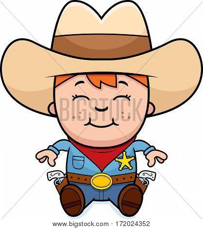 Sitting Little Cowboy