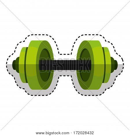 weight lifting equipment icon vector illustration design