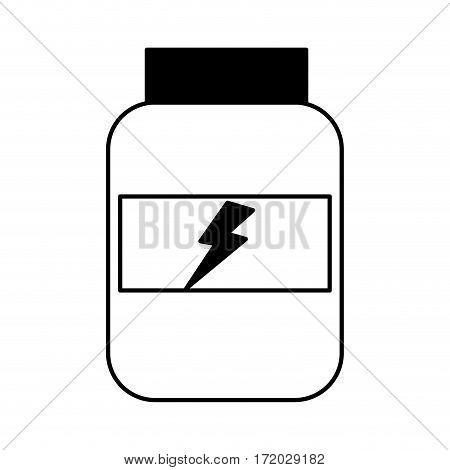 protein bottle lifestyle icon vector illustration design