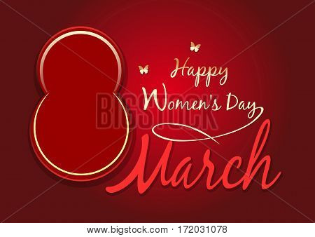 Women's day design. Happy Women's Day. 8 March. Greeting card. Vector background with the design elements for the International Women's Day