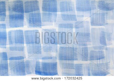 Watercolor background for textures. Abstract watercolor background. Strokes of paint on the paper. Blue color