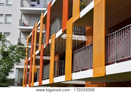 Strasbourg France - july 24 2016 : a new apartment block
