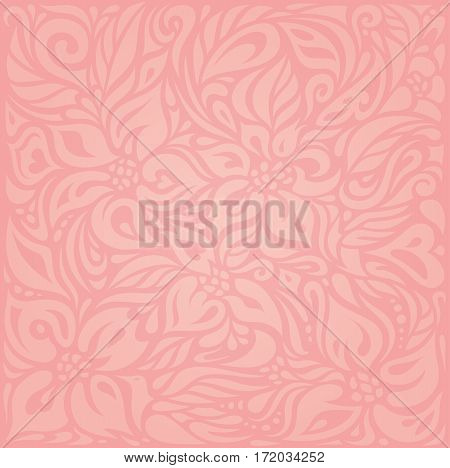 Floral Pink vector design decorative gentle background
