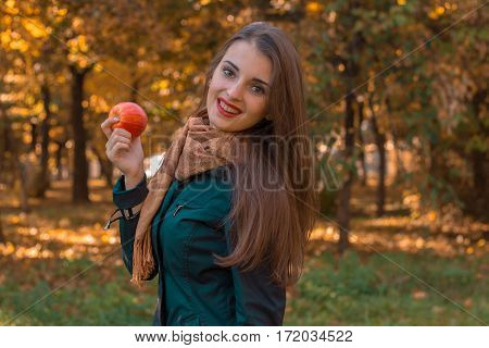 girl is worth turning sideways smiles and keeps Apple in the Park