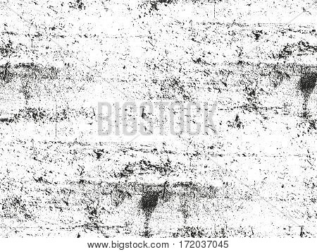 Distressed overlay texture of cracked concrete stone or asphalt. grunge background. abstract halftone vector illustration
