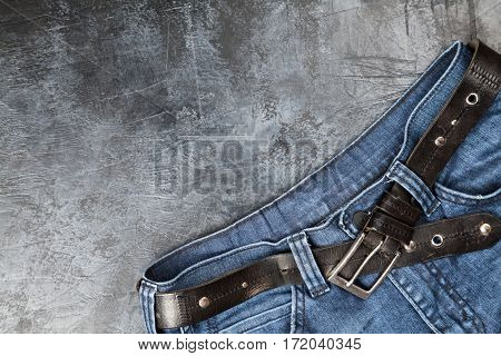 Jeans on dark background