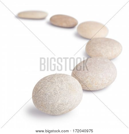 pebble harmony round stones isolated on white