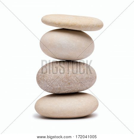 pebble harmony tower on a white background