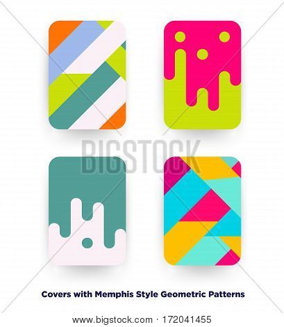 Covers With Flat Geometric Background.