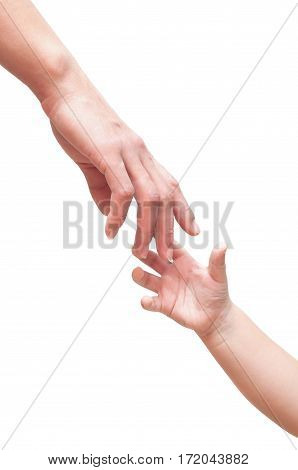 Two Hands Are Drawn Towards Each Other