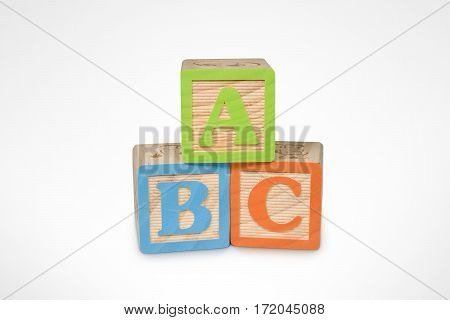 A B C Wooden Learning Blocks (with clipping path)
