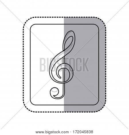 emblem music symbol icon image, vector illustration