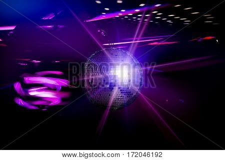 disco ball background space backdrop light discoball nightclub design graphic concept - stock image